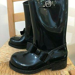 Red Valentino Black Rain boots